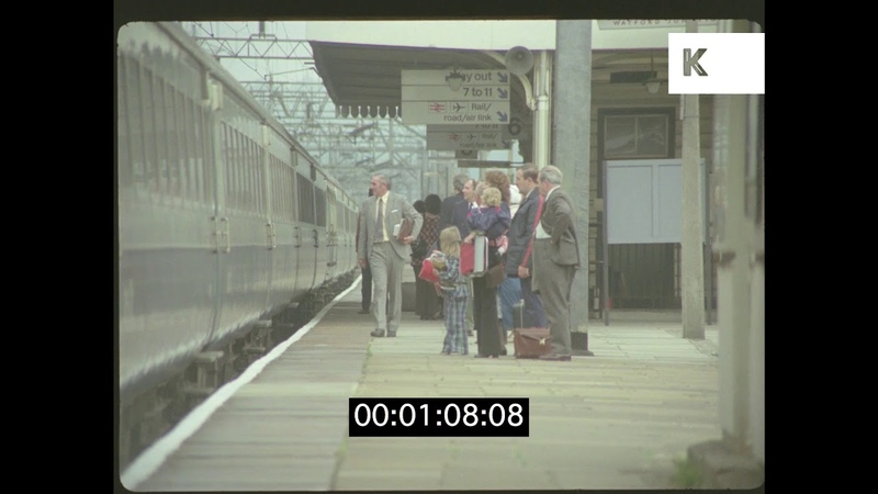 London Train Platform, Watford Junction, 1970s in HD