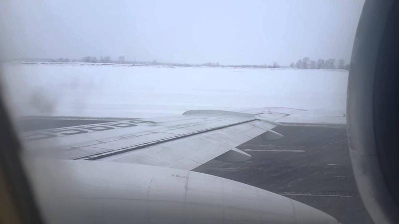 ТУ-154 RA-85684 ИЖМА. Взлет из Новосибирска