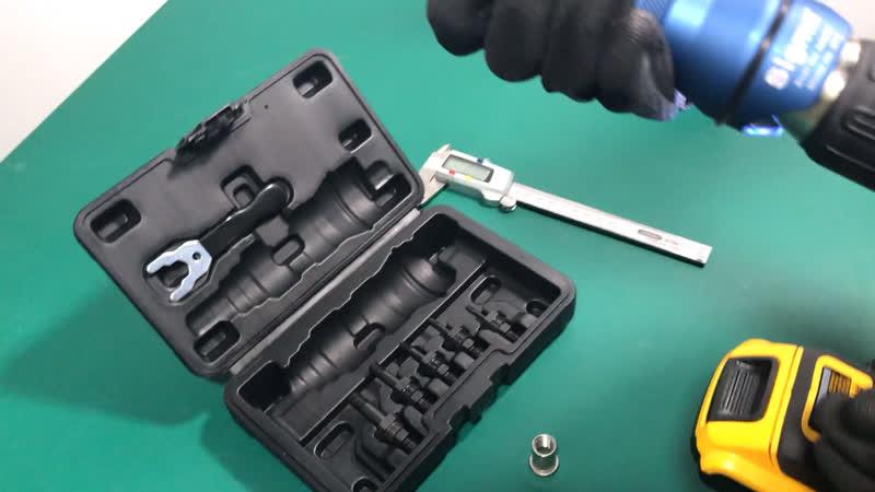 Sigma M12 HEAVY DUTY Threaded Rivet Nut Drill Adapter Cordless or Electric power tool accessory alternative air rivet nut gun