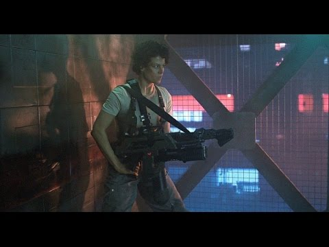 Aliens (1986) genius scene - Ripley gearing up and going after Newt HD