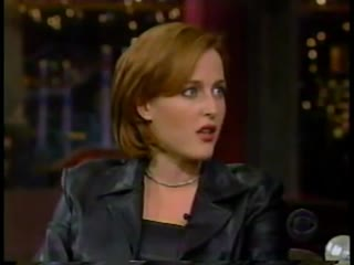 Late show with david letterman jan 11, 1999 gillian anderson