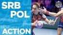 Serbia intercepts Poland attack Radojevic scores Women's EHF EURO 2018
