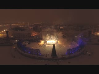 Фестиваль огня на стрелке Васильевского острова