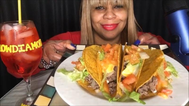 Mukbang ASMR   Stuffed Crunchy Tacos   Eating Show