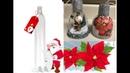Manualidad navideñas Decoracion de botella de plastico para el arbol de navidad
