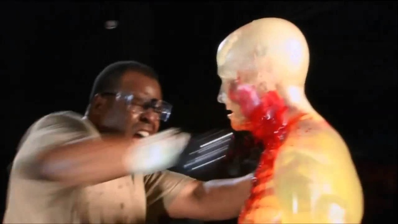 Navy Seal stabbing a dummy