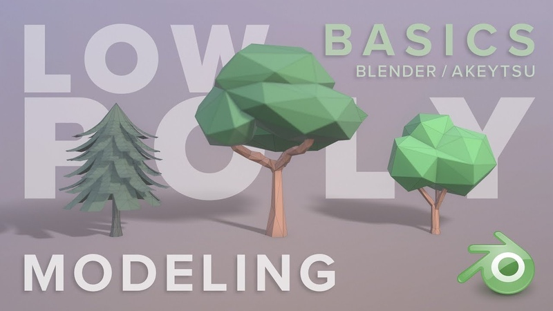 Low Polygon Modeling A Simple Tree Blender Basics for Game Design