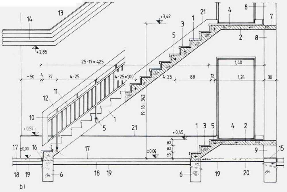 Наружные межэтажные лестницы