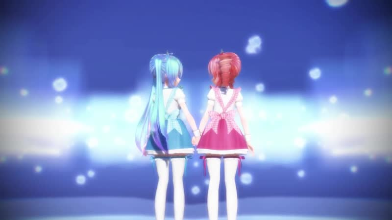 [MMD] Dive to Blue [Miku・Teto]