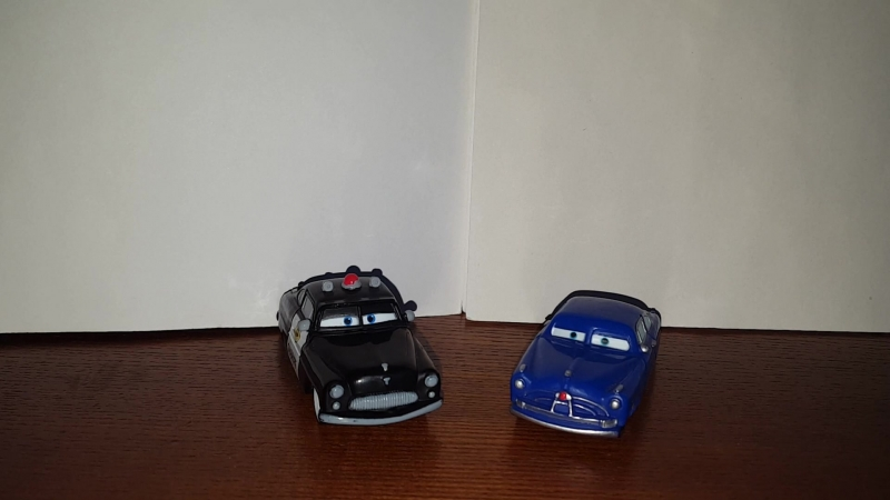 Cars Sheriff And Doc Hudson Comparison/Тачки сравнение - [Несравнимые]