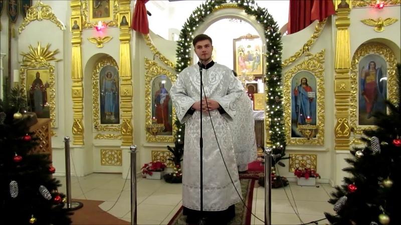 Проповедь чтеца Германа Гуцу на Евангельское чтение Недели пред Рождеством Христовым