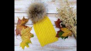 #вязание #шапкаспицами Вяжем самую модную шапку бини