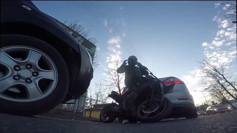 Зажали мотоциклиста pf;fkb vjnjwbrkbcnf