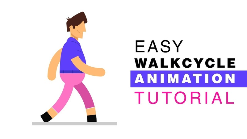 Walk cycle Character Animation Tutorial After Effects Tutorial