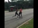 Уличная драка баб