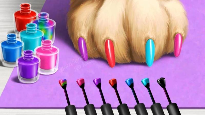 Cuidado de los Animales Juegos - Salón de Belleza para Animales Navidad 2 Juegos de Maquillaje