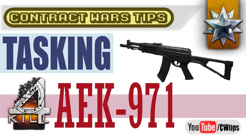 Contract Wars Tasking Aek-971 (1 of 10) quadKill