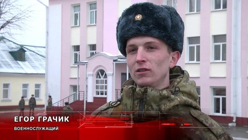 100 новобранцев Пинского пограничного отряда получили боевое оружие