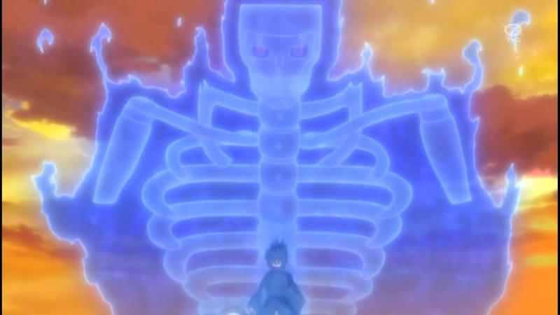 Мадара пробуждает Вечный Мангекё Шаринган и Впервые использует Сусано