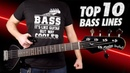 Top 10 Bass Lines Guitarists HATE!