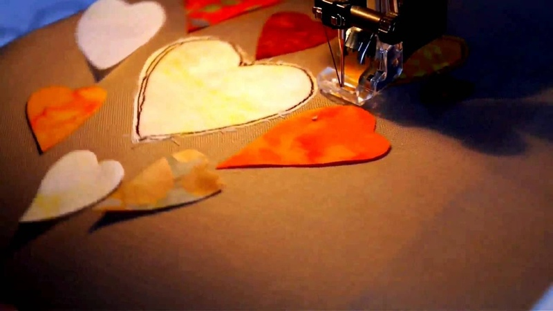 Raggedy Ruff Free Motion Embroidery Hearts Tutorial