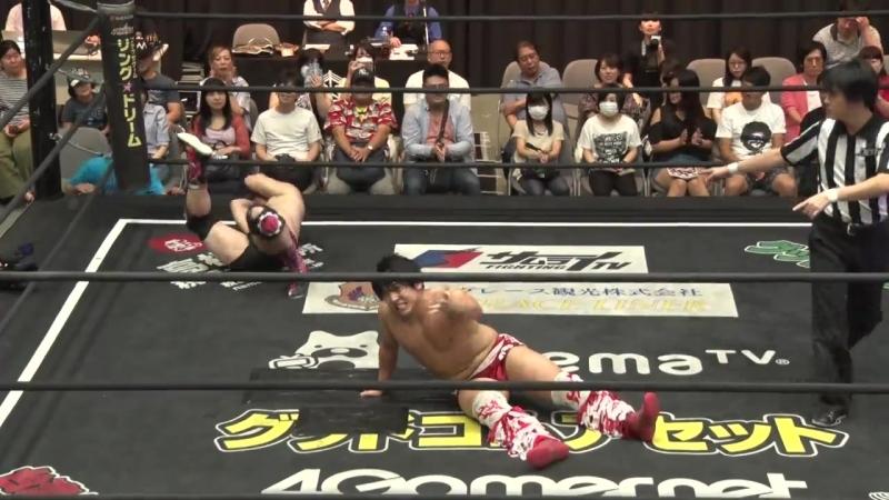 Nobuhiro Shimatani, Tetsuya Endo vs. Keisuke Ishii, MAO (DDT - Our Second Narimasu Event! 2018)