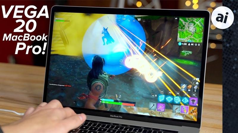 Fortnite on Vega 20 MacBook Pro! macOS Windows 10 @ 60FPS!