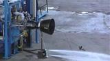 Rocket Thruster Test Fire