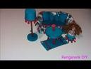 DIY Kendin yap süt kutusundan Barbie mobilyasi Koltuk ve yastık yapımı Rengarenk DIY