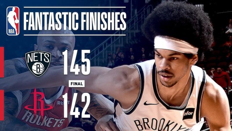 Яркая концовка в матче между Бруклином и Хьюстоном 2019.01.17
