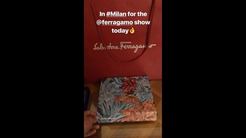 Личные видео / Джереми готовится к модному показу а Милане, 22.09.2018