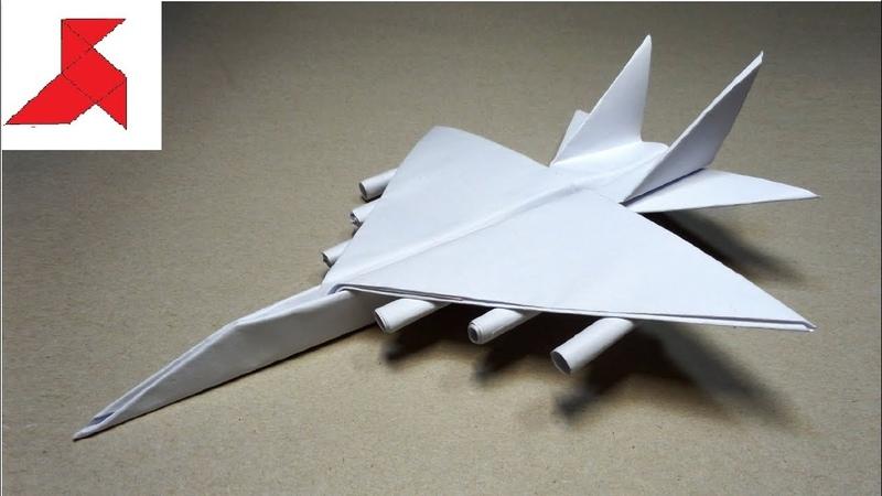 DIY ✈️ Как сделать самолет ИСТРЕБИТЕЛЬ с ракетами из бумаги А4 своими руками