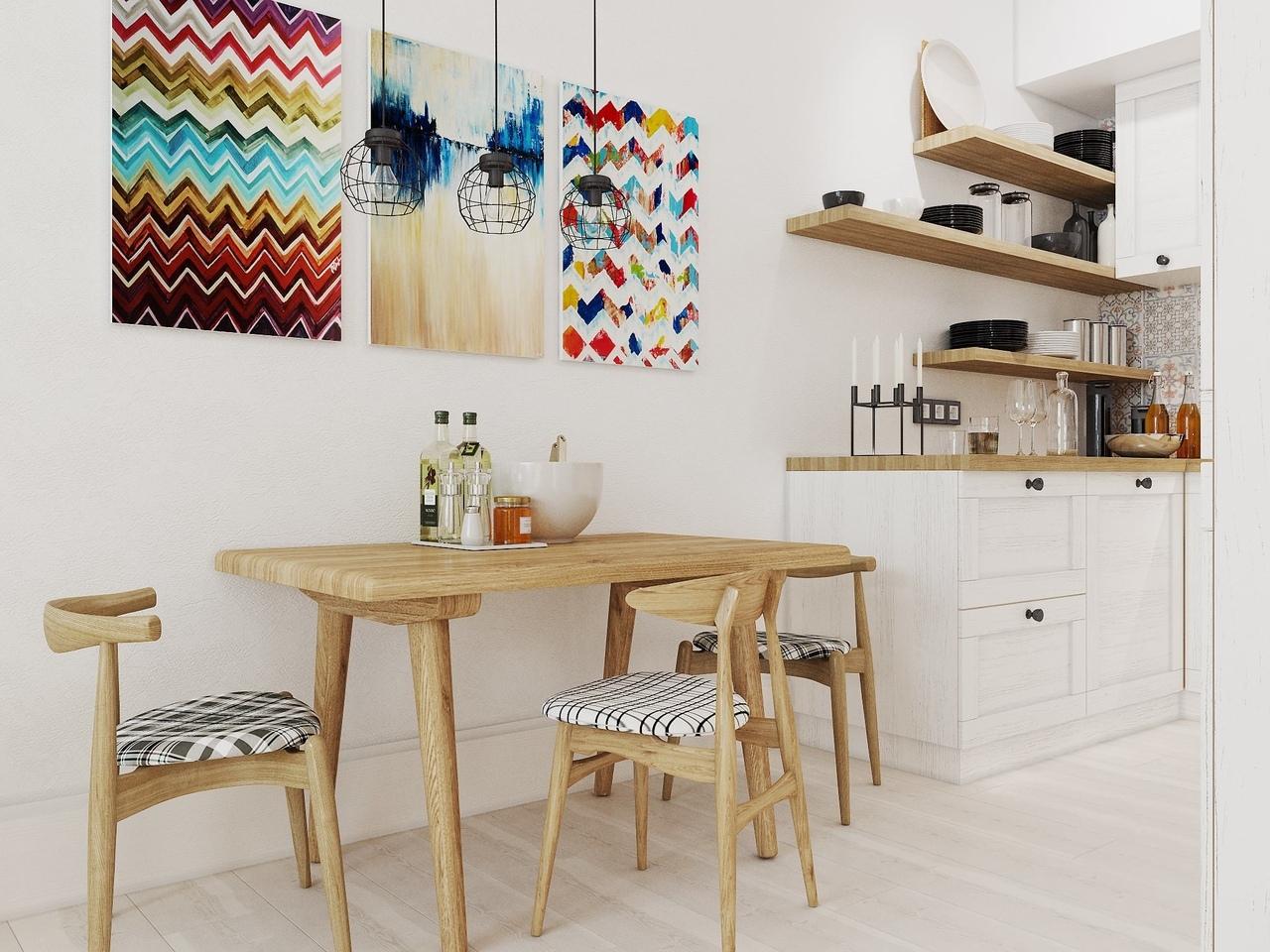 Проект скандинавской квартиры на 30 кв.