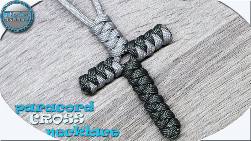How To Make Paracord Cross Necklace Tutorial DIY Fast and Easy