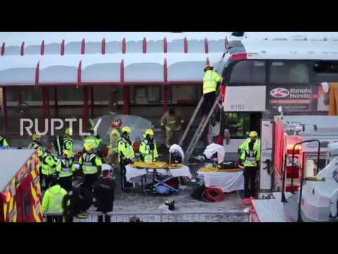 Canada Three killed and 23 injured in Ottawa bus crash