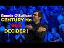 DECIDER ! Ronnie O'Sullivan Vs Kyren Wilson - FINAL - CENTURY no 968 - Champion of Champions 2018
