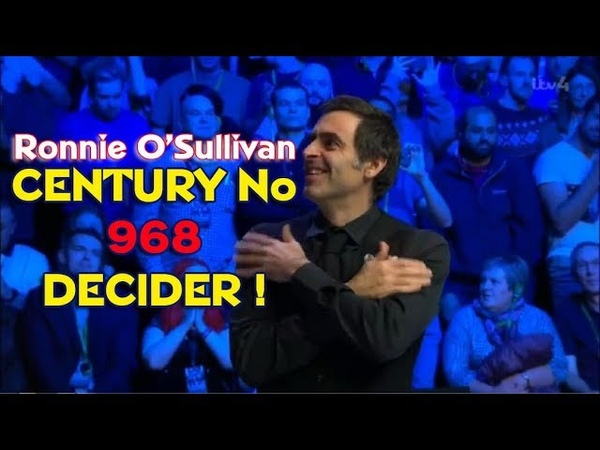 DECIDER ! Ronnie O'Sullivan Vs Kyren Wilson - FINAL - CENTURY no 968 - Champion of Champions 2018