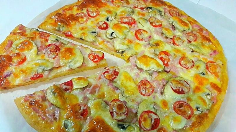 Такой Вкусной Пиццы Еще Не Пробовала Вкуснейшая Домашняя Пицца в Духовке за 20 минут