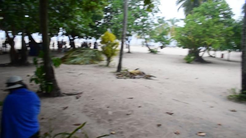 Ливень на острове Кайо Левантадо. 04.10.2018.