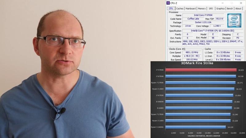 I7 9700K vs i7 8700K где FPS больше в играх