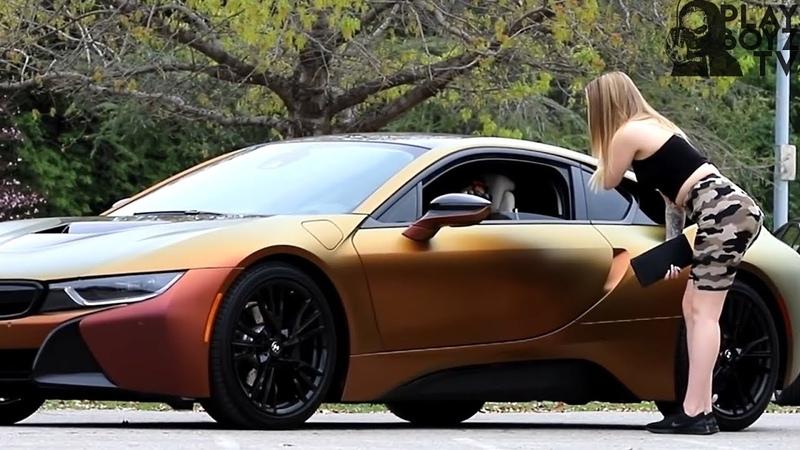 ШКУРА ПОВЕЛАСЬ НА BMW I8 И БЫЛА ЖЕСТКО НАКАЗАНА НЕСКОЛЬКО РАЗ (ПРАНК-МНОГОХОДОВОЧКА)
