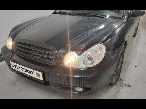 Установка реле ходовых огней (дальний в полнакала) Hyundai Sonata