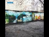 Картины на гаражах в Зеленой Роще