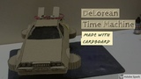 Delorean Time Machine (Back to the Future) made out of cardboard