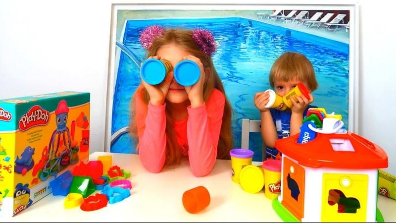 Play Doh Осминог с огромными щупальцами Пластилиновые водоросли и морские жители Плэй До