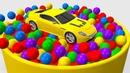 Мультики про Цветные Машинки Учим Цвета для Детей Веселые Машинки и Шарики Песенки для Малышей