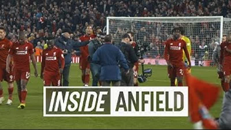 Inside Anfield LFC 1 0 Everton Scenes as Origi wins dramatic derby in injury time