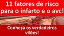11 reais fatores de risco para infarto e AVC Conheça os verdadeiros vilões
