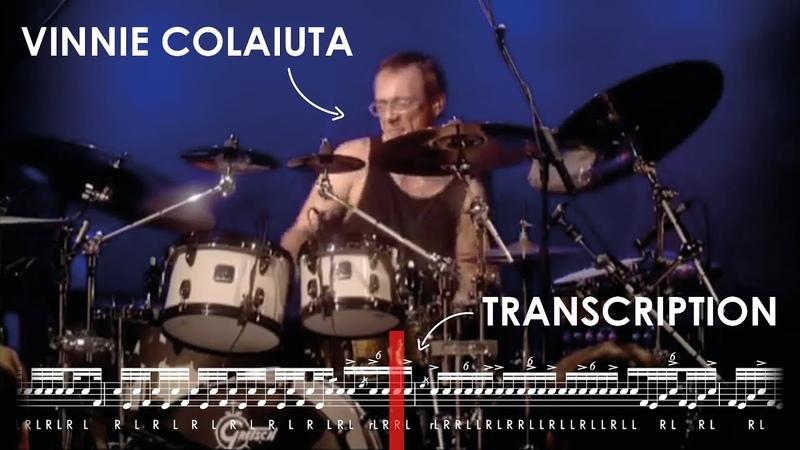 Drum Solo Transcription Vinnie Colaiuta w Jeff Beck Live at Ronnie Scott's