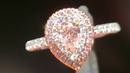 Pink Pear Diamond double halo Ring R5614